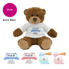 Personalised Name Anne Teddy Bear Gift Gifts for Christening New Baby Boy Girl