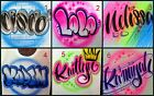 Custom Airbrushed Name Design, Personalize a Shirt (Sizes 6 months - Adult 5XL) image