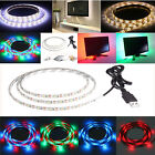 50/100/200cm Multi-colour RGB TV Background PC Lighting Kit USB LED Strip Light