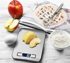 Digital Kitchen Scale 11lb 5kg Stainless Steel for Food Postal Cooking LED