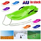 Skiing Board Sled Luge Snow Grass Sand Board Pad With Rope For Double People 07 $32.35 AUD