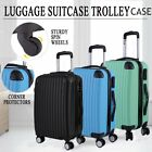 "20"" Hard Shell Luggage Travel Bag ABS Trolley Suitcase 4 Wheels Case Rolling EO"