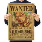 Cartoon Anime Vintage One Piece Posters Retro Paper Wall Sticker Home Bar Decro
