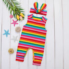 Toddler Infant Kids Baby Girls Rainbow Romper Jumpsuit Bodysuit Clothes Outfits