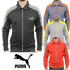 PUMA Mens LS Slim Eagle Point Tracksuit Jacket Sweatshirt Top CLEARANCE SALE