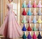 New Long Chiffon Evening Formal Party Ball Gown Prom Bridesmaid Dress Size 6-26
