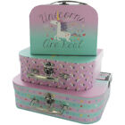 UNICORN STORAGE SUITCASE BOXES - Set of 3