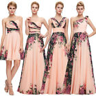 Floral Wedding One Shoulder Long Short Evening Party Formal Bridesmaid Dresses