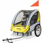 Merax 2-in-1 Collapsible 2-Seater Double Child Bicycle Trailer