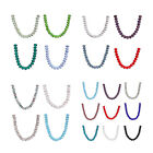 10Pcs 16mm Faceted Rondelle Glass Crystal Bead Loose Space Finding Jewelry