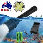Waterproof 20000Lm Scuba Diving 5x XM-L T6 LED Flashlight Light 2X18650 Battery