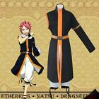 New Japanese Anime Fairy Tail Natsu Dragneel Cosplay Costume Coat Fancy Clothes