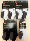 NWT Under Armour Men's Resistor No Show Low Cut Socks 6 Pairs BLK WHT MD LG XLG