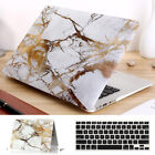 "Gold Marble Anti-Shock Matte Hard Case For MacBook AIR 11"" PRO 13"" 15""+Touch Bar"