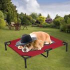 Large Dog Cat Bed Elevated Pet Cot Indoor Outdoor Camping Steel Frame Mat Raised
