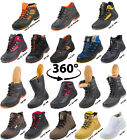 URGENT LEATHER SAFETY WORK BOOTS STEEL TOE CAP SHOES TRAINER HIKER SIZE  <br/> MEN SAFETY WORK STEEL TOE CAP SHOES TRAINERS BOOT ANKLE
