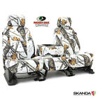 Coverking Skanda Mossy Oak Winter Camo Front & Rear Seat Covers for Ford F350