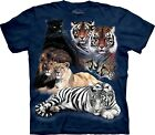 Big Cat Collage Zoo Shirt Adult Unisex The Mountain