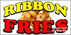 (CHOOSE YOUR SIZE) Ribbon Fries  DECAL Concession Food Truck Vinyl Sticker