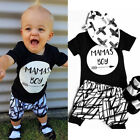 Newborn Infant Baby MAMAS Boy Toddler T-shirt Tops+Pants Outfit Clothes 0-24M
