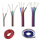 2 3 4 5 pin RGB RGBW extension cable cord Led Power pixel wire 22AWG 1m 20m 100m