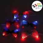 Flashing Light Up Bow Tie Necktie Bright LED Mens Party Lights Sequins Bowtie