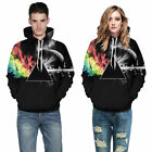 Unisex 3D Print Classic Hooded Sweatshirt Hoodie Warm Couples Mix Color New Top