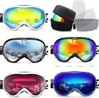 Anti-fog and 100% UV Protection Ski Snowboard Snow Goggles for Men Woman Youth