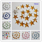15MM Five Star Flat Back Rhinestone Acrylic Diamond Scrapbook DIY Craft Decor