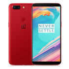 "Red OnePlus 5T 4G Smartphone 6.01"" Android 7.1 8G+128GB 3*Cameras 20MP Unlocked"