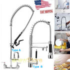 """Hot Commercial Kitchen Restaurant Pre-Rinse Faucet Swivel with 12"""" Add-On Faucet"""