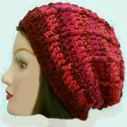 CROCHET SLOUCHY BEANIE HAT festival hippy winter cowl scarf gloves 14 mitten red
