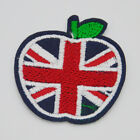 Apple British flag Embroidery Ironon patch sewn For clothing