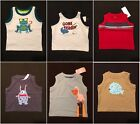 NWT Gymboree Baby Boys Graphic Tank Top Selection 3-6 M 6-12 & 12-18 M