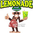 Lemonade DECAL (Choose Your Size) Monkey Concession Food Truck Vinyl Sticker