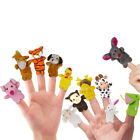 12Pcs Family Finger Puppets Cloth Doll Baby Educational Hand Cartoon Animal Toy