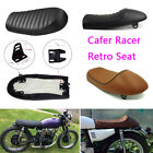 Motorcycle Cafe Racer Seat Flat & Hump Saddle For Honda CB Suzuki GS Yamaha XJ $49.32 USD on eBay