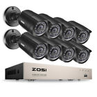 ZOSI 1080P HDMI HD 8CH DVR 720p Outdoor CCTV Home Security Camera System 1TB US