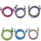1M 2M 6FT Braided Charger Charging Cord USB Data Cable for iPhone 7 6 6S Plus 5S