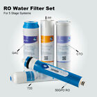 5 Complete Water Filters for 5 Stage RO/DI Under Sink Purifier Fit APEC Systems