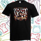 The Cult Electric Tour Skull Logo Rock Band Men's Black T-Shirt Size S to 3XL image