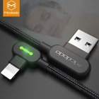 Mcdodo Right Angle Game Cable Sync Chaging Data USB LED Cord iPhone 11/XS/X/8/7