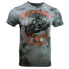 DEATH VALLEY Men's T-shirt- CA Desert Speedway 1971 Motorcycle -GRAY TIE DYE