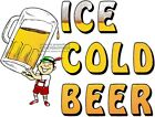 ICE COLD BEER VINYL DECAL (CHOOSE SIZE) CONCESSION STAND BOARDWALK