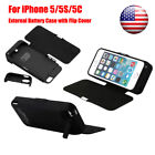 For iPhone 5/5S/5C 4200mAh Visible Battery Power Charging Case Cover with Flip