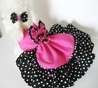 DOG DRESS /HARNESS   DISNEY PINK AND BLACK      NEW   FREE SHIPPING