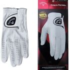 "White Callaway DAWN PATROL Mens/Ladies Golf Glove ""100% LEATHER"" LEFT/RIGHT Hand"