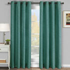 Blue Galleria Tonal Stripe Grommet Blackout Window Curtain Panel - All Sizes