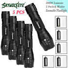 5Mode Waterproof Zoomable 20000LM T6 LED Flashlight Light Lamp Fit 18650Battery