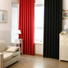 100%Blockout Curtain Block Light Black Out Curtain Cloth Solid Color Shade Panel